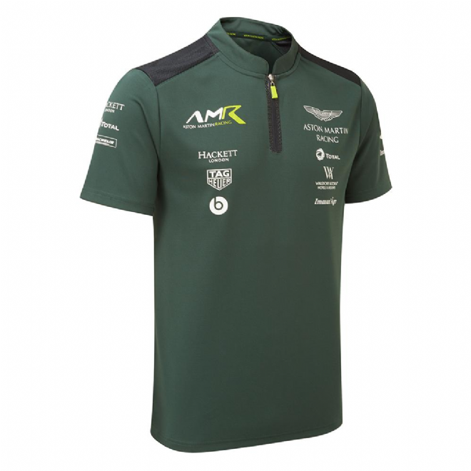 Aston Martin Racing Men's Team Polo Shirt - Sterling Green